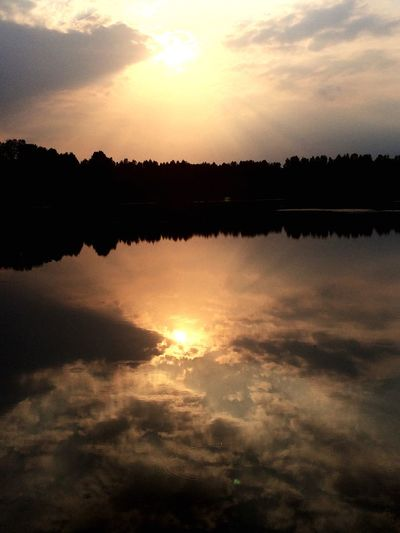 Sunset Water Beauty In Nature Sky Water Reflections Nature Naturelovers Clouds And Sky