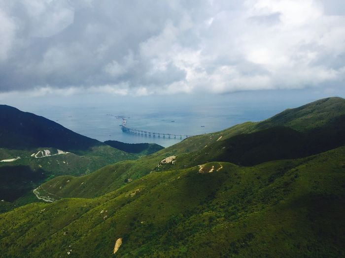 Hong Kong Honk Kong Cloud - Sky Sky Scenics - Nature Beauty In Nature Tranquil Scene Tranquility Nature Water Mountain Day Sea Environment Plant Land No People Landscape Green Color Non-urban Scene Outdoors