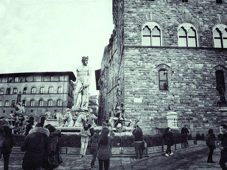 Building Exterior Architecture Built Structure Architecture Italy🇮🇹 City Palazzo Vecchio Firenze Biancone Statua Nettuno Firenzecapitale
