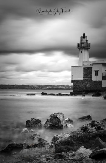 Light up my way.. Photography Photooftheday Picoftheday Seascape Long Exposure Long Exposure Shot Black And White Black And White Photography Monochrome monochrome photography Building Exterior Protection Architecture Built Structure Harbor Outdoors