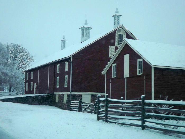 Gettysburg,pa Pennsylvania Beauty Pennsylvania Barn In Snow History