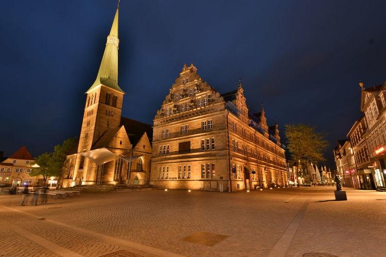 Zu Besuch in Hameln - Altstadt Church Cityscape Hameln Hochzeitshaus Kirche Nacht Nightphotography Weserrenaissance Bulb Fußgängerzone Langzeitaufnahme Langzeitbelichtung Marktkirche Niedersachsen Night
