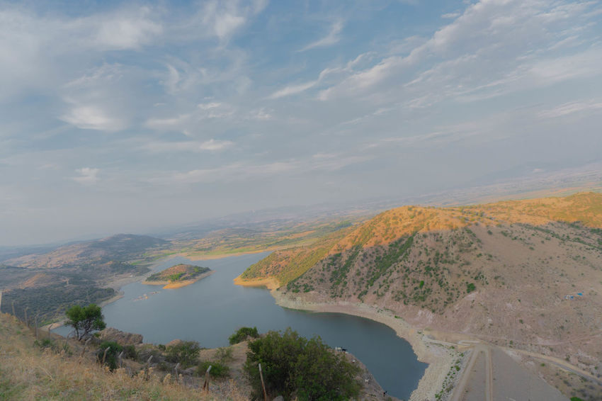 Barrage Beatiful View Beauty In Nature Border Lake Reservoir Savewater Water