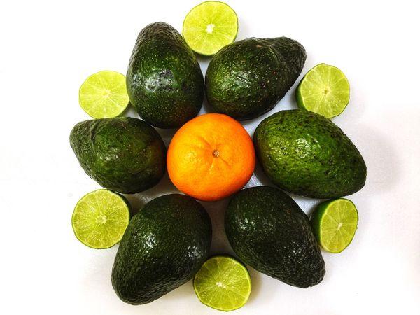 Nature EyeEm Best Shots Be. Ready. Avacado Orange Lime Lemon White Background Variation Citrus Fruit Green Color Fruit Studio Shot Food Indoors  Freshness Healthy Eating Close-up Day Vegetable Food Stories