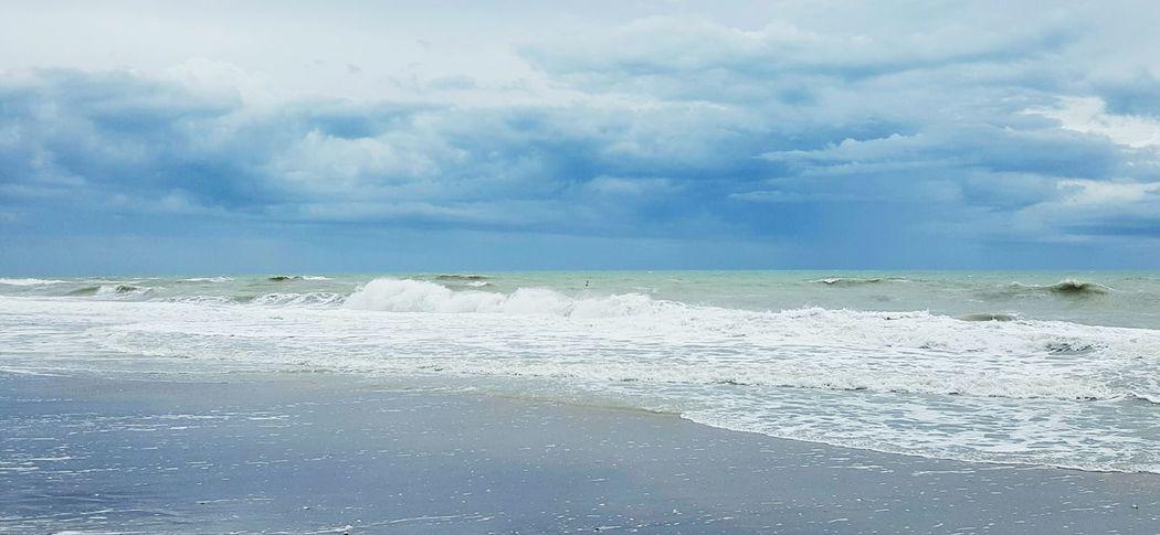 Sea Water Wave Surf Beach Cloud Storm Cloud Dramatic Sky