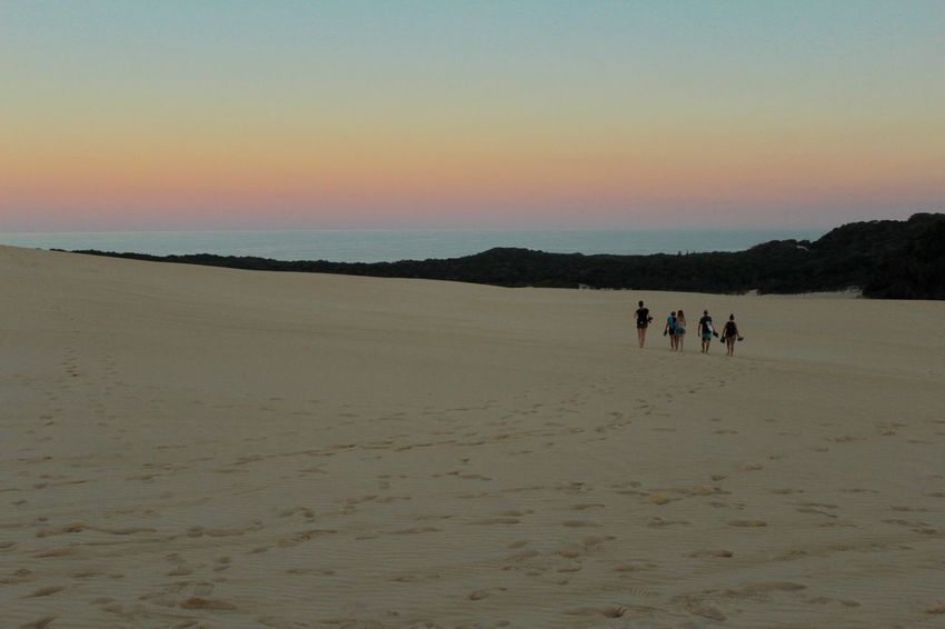 I managed to capture the different colours of the sunset over the sandunes on Fraser Island in Australia. Australia Fraser Island Sand Dune Sand