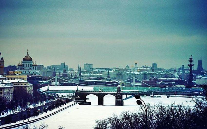 Moscow Winter Snow ❄ Gorky Park Christthesaviorcathedral River Bridge
