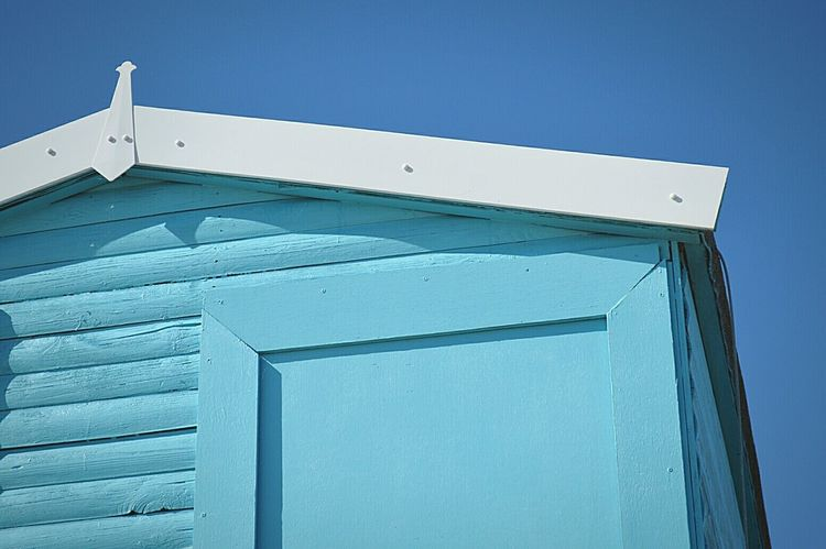 Blue Beach Hut Blue Sky Not A Cloud In The Sky Day At The Beach Beach Beach Day Beach Photography Seaside British Seaside Sunny Day Frinton-on-Sea United Kingdom Nikon D3200