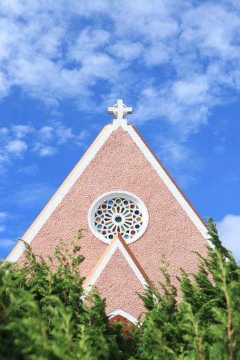 Domaine de Marie Church Domaine De Marie Vietnam Church Sky Religion Built Structure Cloud - Sky Architecture Plant Low Angle View No People Outdoors Building Exterior Nature Tree Belief