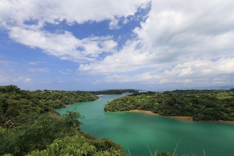 悪天に祟られた沖縄で、唯一の好天