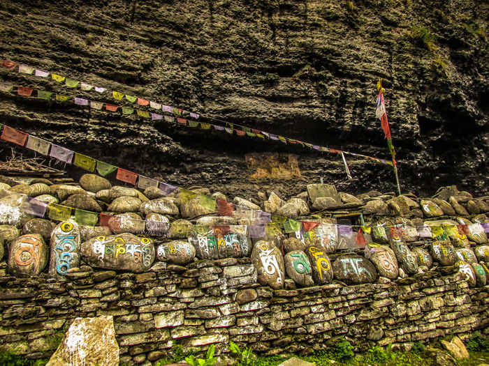 trek in Annapurna circuit Nepal Annapurna Conservation Area Nepal Wall Abundance Architecture Day Holy Large Group Of Objects Mani Mani Wall No People Outdoors