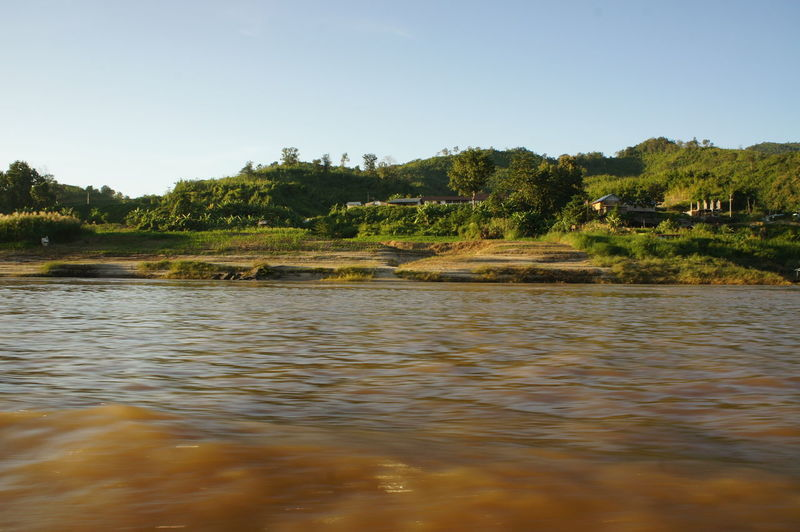 Arrival Backgrounds Day Ecosystem  Landscape Mekong Mekong River Natural Parkland Nature No People Outdoors River River Cruise River View Riverscape Riverside Sky Tourism Travel Tree Water