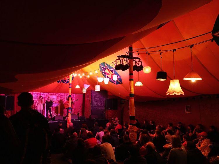 Festival Tent Illuminated Intimate Lightshade Gig Gig Photography Folk Festival Live Music Audience Captivating