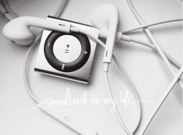 My Playlist Music Listening To Music Ipodsuffle Blackandwhite Black & White