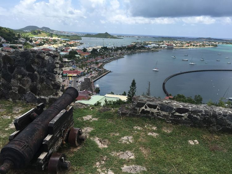 Fort Louis st Marteen Outdoors Cannon Water Sea