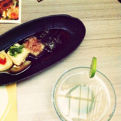 agedashi tofu w/ margarita.