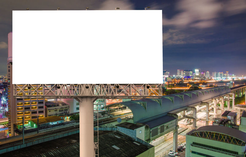 Architecture Built Structure Building Exterior City Sky Billboard No People Advertisement Copy Space Cityscape Building Outdoors Nature Auto Post Production Filter Blank Illuminated Bridge Transportation Office Building Exterior Commercial Sign Skyscraper Architectural Column Message