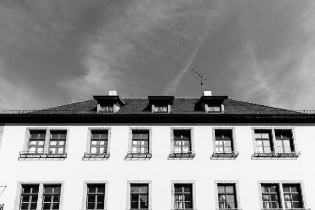 Low angle view of building against sky. Politics And Government City Government Politics Architectural Column Window Sky Architecture Building Exterior Built Structure #urbanana: The Urban Playground