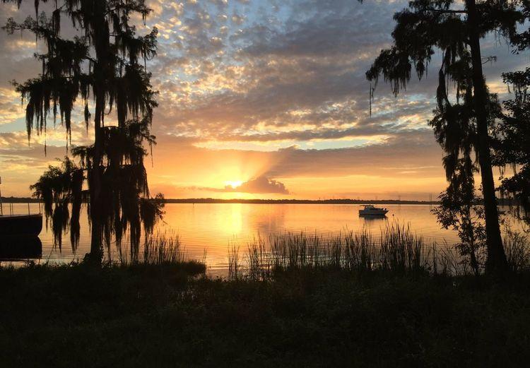 My Best Photo 2015 Florida Lake John Crystal Cove Sunrise Boats