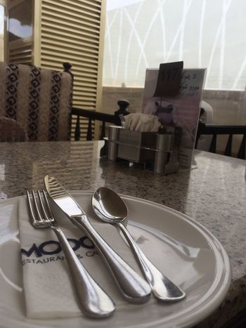 Fork Table Table Knife Cutlery Place Setting Plate Indoors  Napkin Silverware  No People Day Close-up