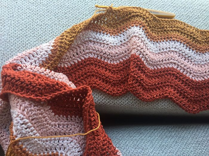 Close Up Of Knitted Fabric