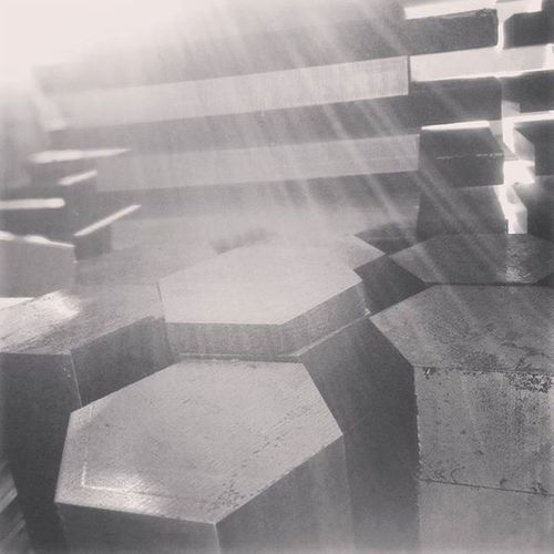 Auto lighting with the sun 🌄 Hexagonal Bnw Practicedaily Practice Metal Engginering Cutting Sheetmetal Workshop Industry