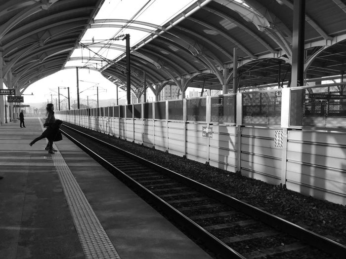 Transportation Railroad Station Platform Railroad Station Public Transportation Full Length Railroad Track Real People EyeEmNewHere This Is Family