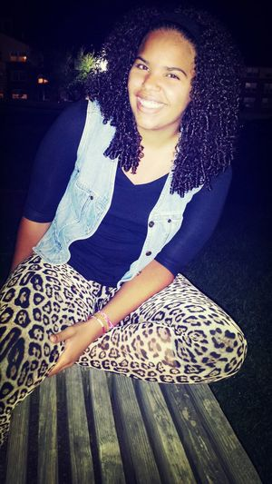 The other night. Drunk Nights Curly Hair! Light And Bright Smile