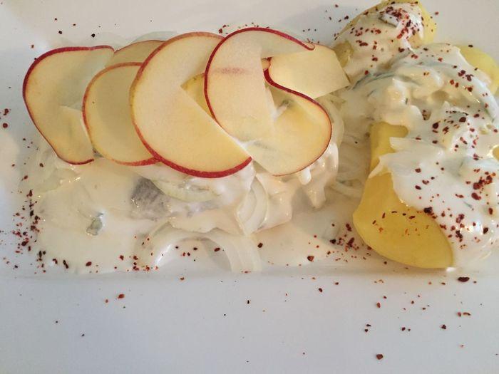 Extreme close up of dessert