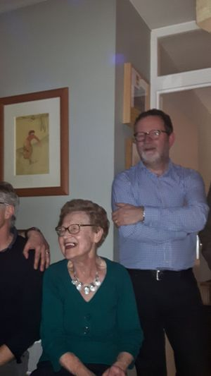 My Lovely Mother Happy Laughing Family Party Enjoying The Moment This Is Aging