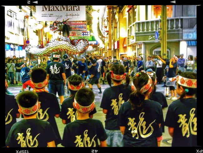 Practice of October festival 2008 ( Nagasaki kunchi festival ) : Dagon Dance, Hamano machi Arcade Nightphotography people 今年は五嶋町が龍踊りの踊り町です。 和華蘭(Nagasaki Culture) popular photo