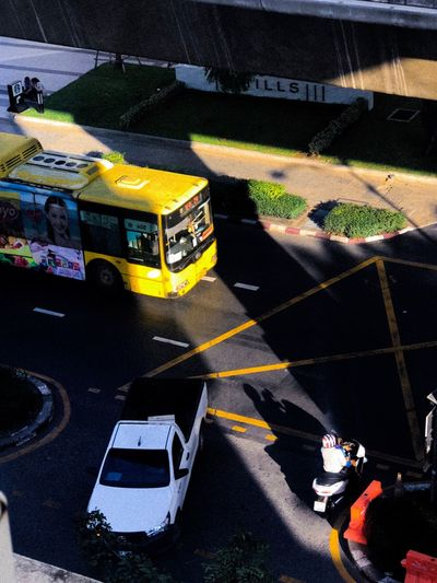 Yellow bus in