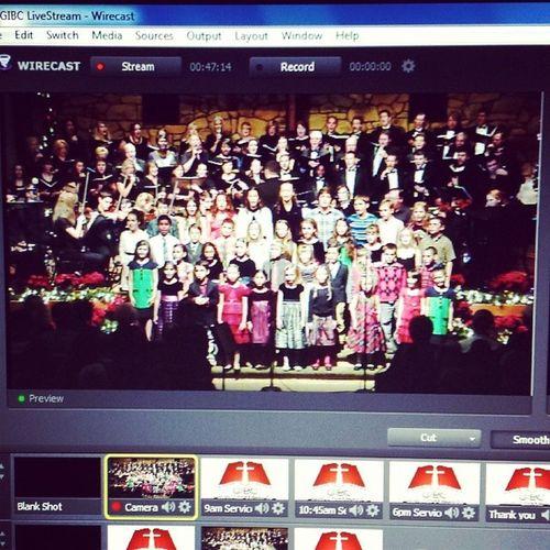 Live Streaming the Christmas Concert at GIBC!! What amazing job @dkreider did putting the gospel into music! GIBC Av Jupiter Christmas