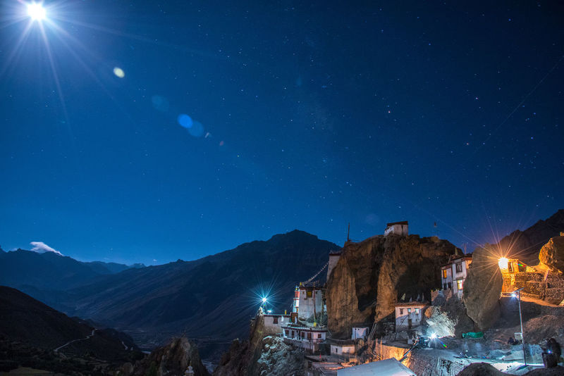The unique view of UNESCO endangered site of Dhankar Gompa. Built many centuries ago, it's a unique setup for a Buddhist monastery. Night Astronomy Milky Way Galaxy No People Mountain Travel Photography Geology Iamnikon My Year My View Extreme Terrain Cold Temperature Non-urban Scene Getty Images Nikon D750 Gettyimages Himalayas India Nikon Mountains Lonelyplanetindia Natgeoyourshot Natgeo NikonAsia UNESCO World Heritage Site