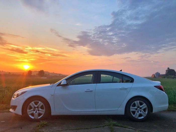 Rise and shine… Good Morning. Taking this Insignia to Gyhum/Bockel. Sunrise Car Mode Of Transportation Motor Vehicle Transportation Sky Cloud - Sky Beauty In Nature Road Trip