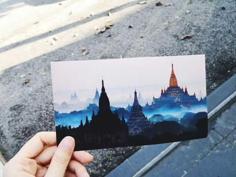 EyeEm Selects Human Hand City Photography Themes Cityscape Holding Photograph Business Finance And Industry Close-up Architecture Sky Postcard Historic Pagoda Bagan Myanmar Culture Myanmar Temple - Building Buddhist Temple Old Ruin Place Of Worship