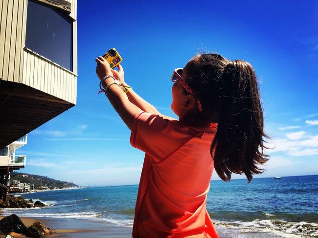Girl Beach Malibu Self Lie Ocean View Sand Pacific Ocean California Iphone6 Orange Ponytail Child Twin Outdoor Salty Hair  Selfie Portrait Kiomi Collection Neighborhood Map The Portraitist - 2018 EyeEm Awards