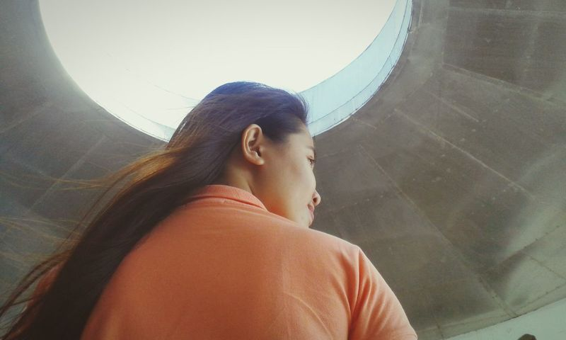 Backview Peach Above Sky Girl Wind Girl Portrait Girl Power