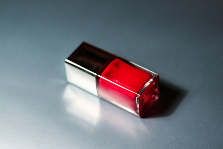 Beauty Close-up Colors And Patterns Nail Lacquer No People Red Red Single Object Vibrant Color