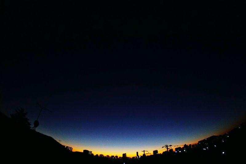 Blue Hour Sonyalpha Sony A6000 SEL16F28 VCL-ECF1 Makuhari Magic Hour Golden Hour Nightphotography Fisheye