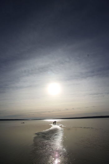 Sweden Sundsvall Calm Water Beauty In Nature Sun Sea Beach Autumn Smacken Lågvatten