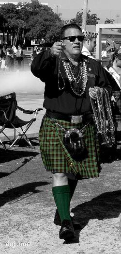 Southern Life Streetphotography Black And White Tampa Fl St Patrick's Day Tampa Enjoying Life Festival Kilt Color Splash