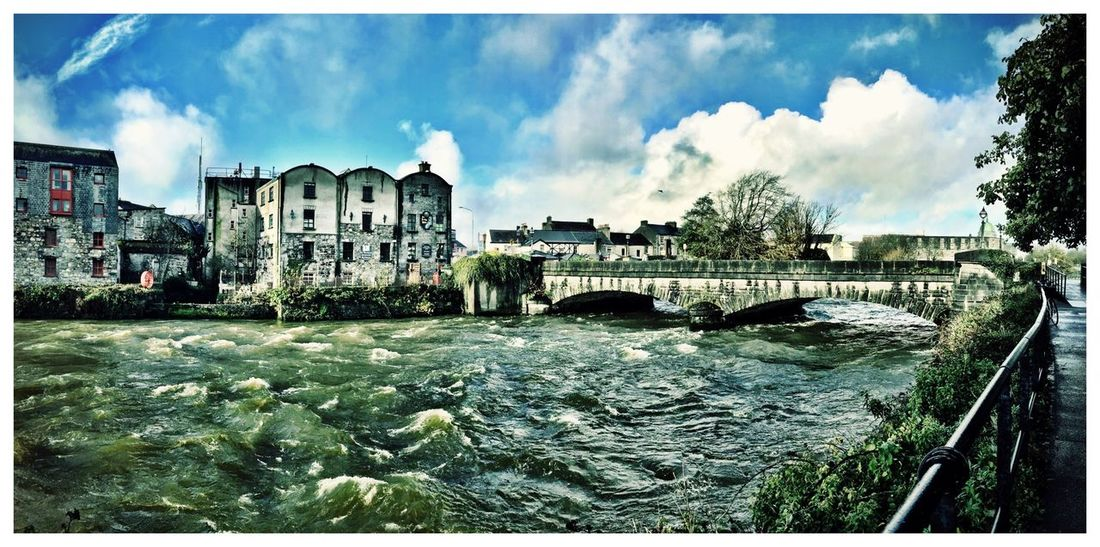 Galway Ireland Sunny Blue Sky Skyporn Oldtown Bridge River Celtic Business Trip The Calm After The Storm Panoramic Landscapes With WhiteWall