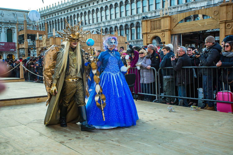 Carnival Carnival In Venice Venice, Italy Adult Adults Only Architecture Arts Culture And Entertainment Building Exterior Built Structure Carnival Costumes Day Full Length Large Group Of People Mask Men Outdoors People Performance Period Costume Real People Venetian Mask