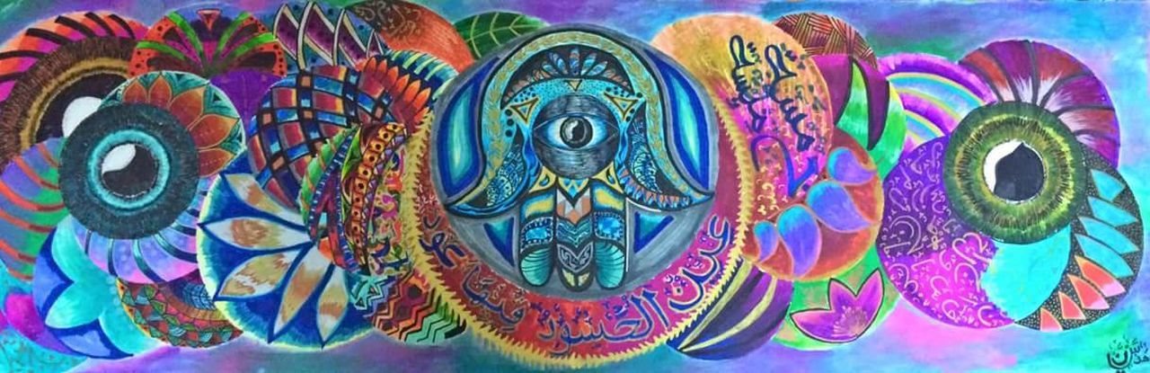 Folklore Egyptian Arabic Style Arabic Style Arabic Calligraphy Calligraphy EyeEmNewHere EyeEm Best Shots EyeEm Selects EyeEm Selects EyeEmBestPics EyeEm Best Shots EyeEmNewHere EyeEm Best Shots EyeEm Colors Colorful Color Portrait Hamsa Hamsa Hand Fatima'shand Multi Colored Close-up No People Day Outdoors