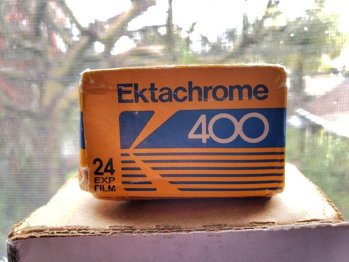 Ektachrome 400 Film Film Photography Film Industry Kodak Camera Vintage Unopened Boxed 1980s Road Road Sign Text Close-up