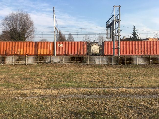 Sky Container Cargo Container Freight Transportation Day No People Outdoors