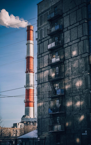 Architecture Building Exterior Built Structure Chimney Day Factory Industry Low Angle View No People Outdoors Power Station Sky Smoke Stack Tall