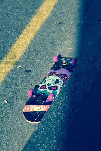 Life Asphalt Day High Angle View Low Section One Person Outdoors People Real People Road Shadow Skateboard Street Sunlight Transportation Young Adult