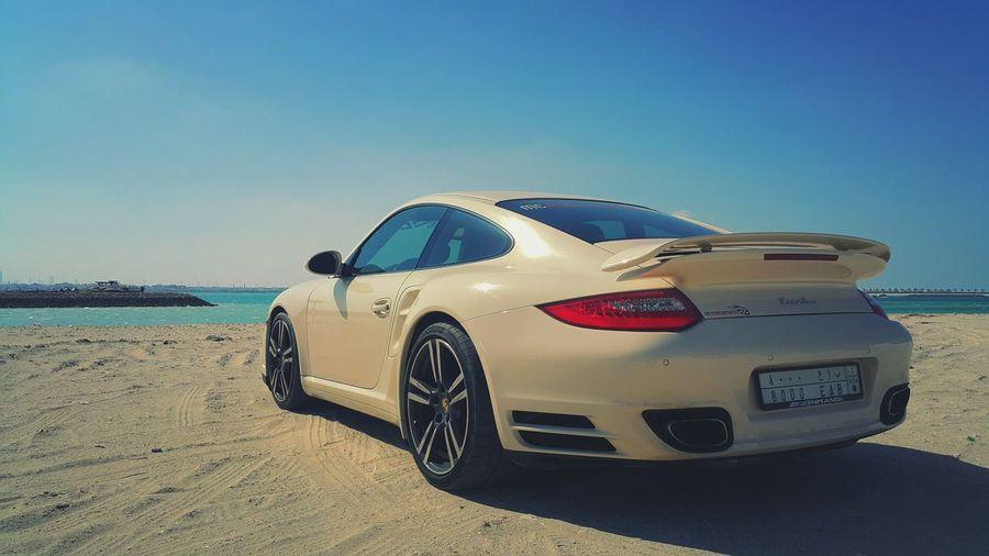 Porsche Turbo PDK at Amwaj islands Bahrain!🔵⚪⚫ Amwajislands Bahrain Beach Muharraq Tala  Heat Sand Water Sun Mc-performance